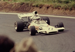 Redman driving at the 1972 French Grand Prix.