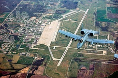 A 303rd Fighter Squadron A-10 over Whiteman Air Force Base