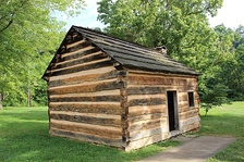 Replica of Lincoln's birthplace near Hodgenville, Kentucky