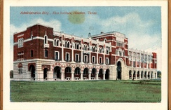 Administration Building, Rice Institute, Houston, Texas (postcard, circa 1912–1924)