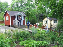 Allotment huts in the open-air museum Skansen, Stockholm