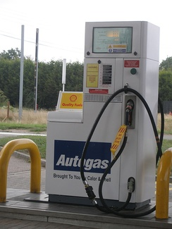 A Shell Autogas refuelling station.