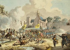 French-Dutch victory under General Brune and General Daendels against the Russians and British in 1799