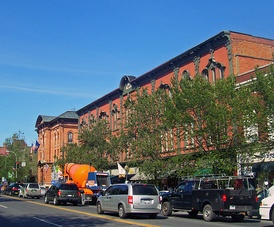 The Broadway Historic District in Downtown Saratoga Springs.