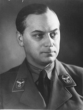 Nazi ideologist Alfred Rosenberg. His Myth of the Twentieth Century was placed on the Index for scorning Catholic dogma and the fundamentals of the Christian religion.[32]