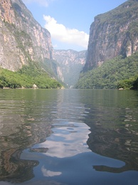 Sumidero Canyon, located in Chiapas, Mexico.