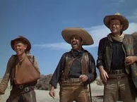 Armendáriz with Harry Carey Jr. and John Wayne in 3 Godfathers (1949)