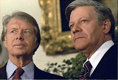 U.S. President Jimmy Carter and Schmidt in July 1977