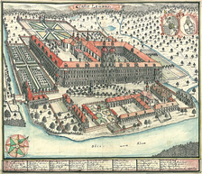 18th-century depiction of the abbey