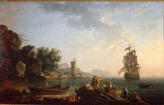Coast scene with British man-of-war by Claude-Joseph Vernet. The chaos caused in Spain by the interventions of foreign powers helped to embolden independence movements within the Spanish Empire.