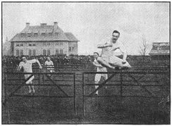 An early model of hurdling at the Detroit Athletic Club in 1888