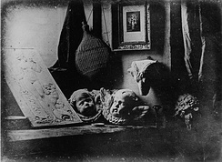 Still life with plaster casts, made by Daguerre in 1837, the earliest reliably dated daguerreotype[23]