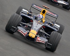 David Coulthard finished third for Red Bull Racing, his last podium in Formula One.