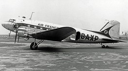 Air France Douglas DC-3 at Manchester Airport in 1952