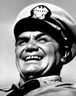 Borgnine as Lieutenant Commander McHale in McHale's Navy in 1963