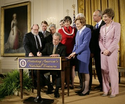 George W. Bush signing proclamation to establish the monument on June 15, 2006