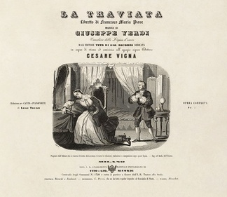 Cover of a circa 1855 vocal score with an engraving by Leopoldo Ratti