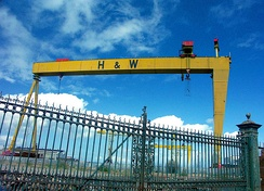 The Samson and Goliath gantry cranes have become city landmarks.