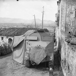 An ACV of 23rd Infantry Brigade HQ at Francolise, 14 March 1944.