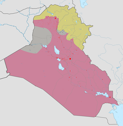 The current military situation, 24 October 2017:   Controlled by Iraqi government   Controlled by the Islamic State in Iraq and the Levant (ISIL)   Controlled by Iraqi Kurds