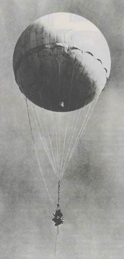 Re-inflated Japanese Fu-Go balloon bomb