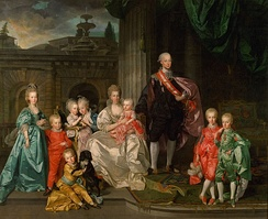 Leopold as Grand Duke of Tuscany together with his family