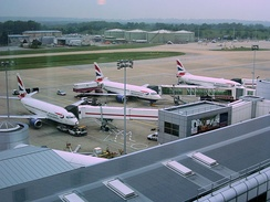 Gatwick is the world's second busiest single-runway international airport.[176]