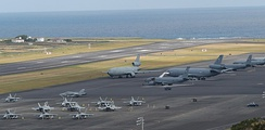 Lajes Air Base, on Terceira Island, is a joint U.S. Air Force and Portuguese Air Force military base.
