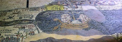 A cargo boat on the Dead Sea as seen on the Madaba Map, from the 6th century AD