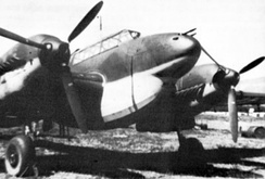 "A Bf 110D-0 with an early ""dachshund's belly"" fuel tank"