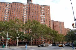 Grant Houses, one of the redevelopment projects in Morningside Heights in the 1950s