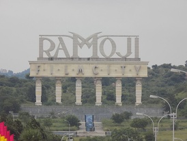 Ramoji Film City in Hyderabad is the largest film studio in the world[1]