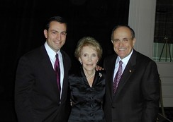 Congressman Vito Fossella, First Lady Nancy Reagan, and Giuliani, 2002