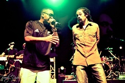 Nas and Damian Marley performing in New Zealand, 2011