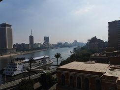 Nile view from the Cairo Marriott Hotel.