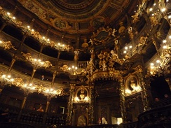 Margravial Opera House, Interior