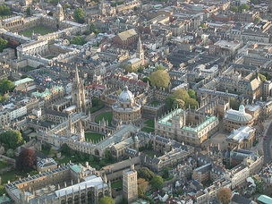 Aerial view of Oxford city centre