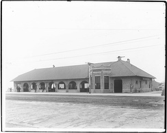 Pacific Electric & Salt Lake Railroad station in Long Beach, 1905