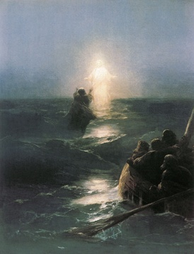 Christ Walks on Water, by Ivan Aivazovsky, 1888.