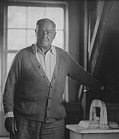 Portrait photograph of Childe Hassam, between 1911 and 1936
