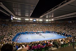 Melbourne hosts the Australian Open, one of four annual Grand Slam tennis tournaments.