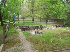 The present-day archaeological site of the Salem Village parsonage