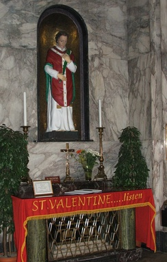 Shrine of St. Valentine in Whitefriar Street Carmelite Church in Dublin, Ireland