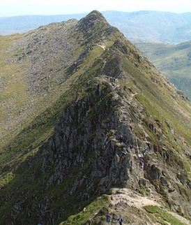 Striding Edge from Helvellyn, English Lake District