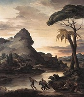 Heroic Landscape with Fishermen, 1818