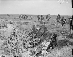 Regimental aid post near Chipilly, 10 August 1918.