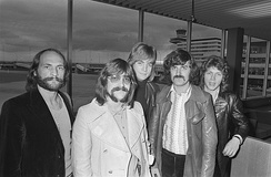 The Moody Blues (pictured in 1970) made significant use of the Mellotron in the 1960s and 1970s, played by Mike Pinder (left)