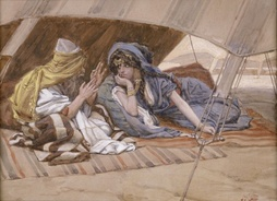 Abraham's Counsel to Sarai (watercolor c. 1896–1902 by James Tissot)