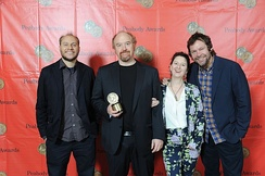 Vernon Chatman, Louis C.K, M. Blair Breard, and Dave Becky, the crew of Louie, present their Peabody Award.