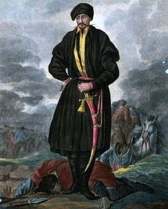 An officer of the Zaporozhian Cossacks in 1720